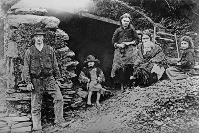 An Evicted Family at Glenbeigh, Ireland, 1888-Francis Guy-Giclee Print
