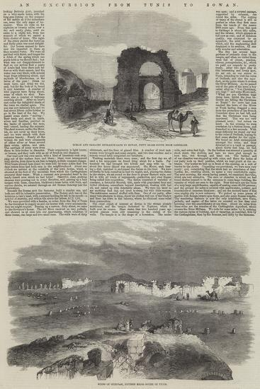 An Excursion from Tunis to Zowan--Giclee Print