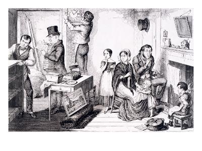 An Execution Sweeps Off the Greater Part of their Furniture, London, England, 1847-George Cruikshank-Giclee Print