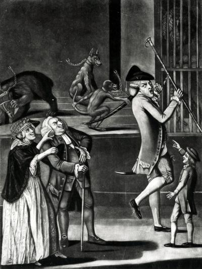 An Exhibition of Wild Beasts or the Macaroni in Distress, 1774--Giclee Print