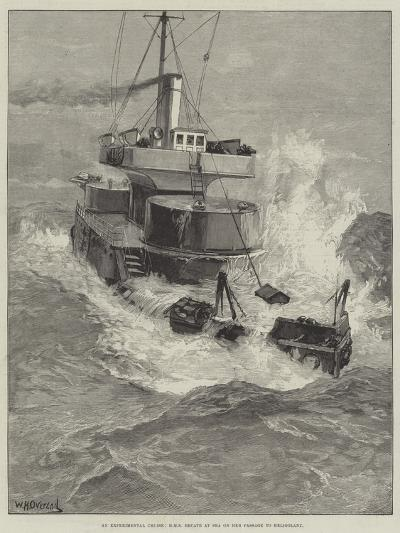An Experimental Cruise, HMS Hecate at Sea on Her Passage to Heligoland-William Heysham Overend-Giclee Print