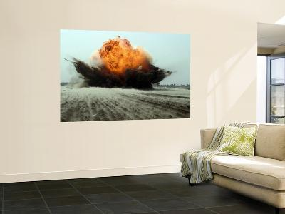 An Explosion Erupts from the Detonation of a Weapons Cache--Wall Mural