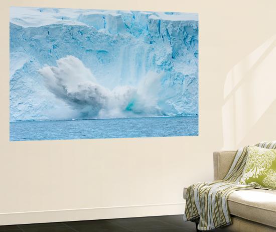 An Explosive Calving Event Near Paradise Harbor, Antarctica-Ralph Lee Hopkins-Wall Mural