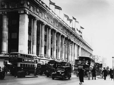 An Exterior View of Selfridges Department Store on London's Oxford Street--Photographic Print