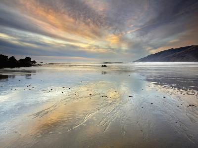 An Extremely Expansive Sandy Beach at the South End of Big Sur-Patrick Smith-Photographic Print