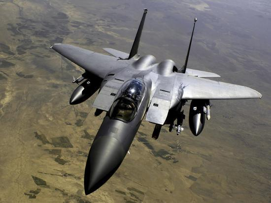 An F-15E Strike Eagle Aircraft in Flight Over Afghanistan-Stocktrek Images-Photographic Print