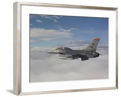 An F-16 Fighting Falcon Flies with An AGM-65 Maverick Missile-Stocktrek Images-Framed Photographic Print