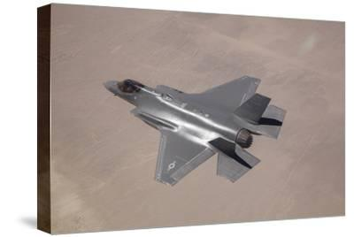 An F-35 Lightning Ii Flies over Edwards Air Force Base, California--Stretched Canvas Print