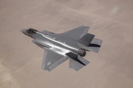An F-35 Lightning Ii Flies over Edwards Air Force Base, California--Photographic Print