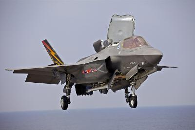 An F-35 Lightning Ii Prepares for Landing--Photographic Print