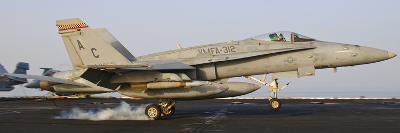 An F/A-18 Hornet Lands Aboard USS Harry S. Truman-Stocktrek Images-Photographic Print