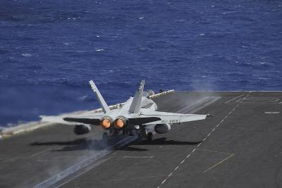 An F-A-18C Hornet Taking Off from USS Dwight D. Eisenhower--Photographic Print