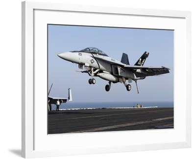 An F/A-18F Super Hornet Prepares For Landing Aboard USS Dwight D. Eisenhower-Stocktrek Images-Framed Photographic Print