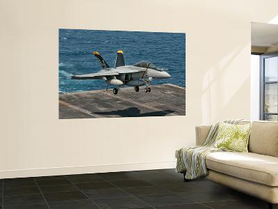 An F/A-18F Super Hornet Prepares to Land Aboard Uss Eisenhower-Stocktrek Images-Wall Mural