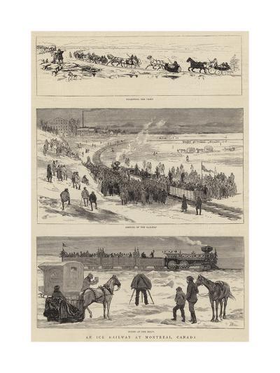 An Ice Railway at Montreal, Canada-Joseph Nash-Giclee Print