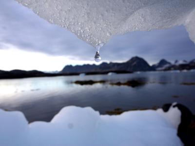 An Iceberg Melts in Kulusuk, Greenland--Photographic Print