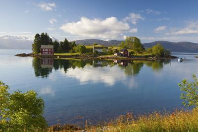An Idyllic Rural Island in the Hardanger Fjord, Hordaland, Norway, Scandinavia, Europe-Doug Pearson-Photographic Print