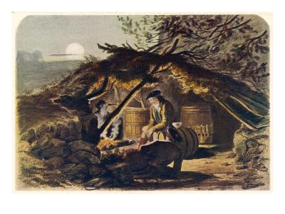 An Illicit Whisky Still in the Scottish Highlands--Giclee Print