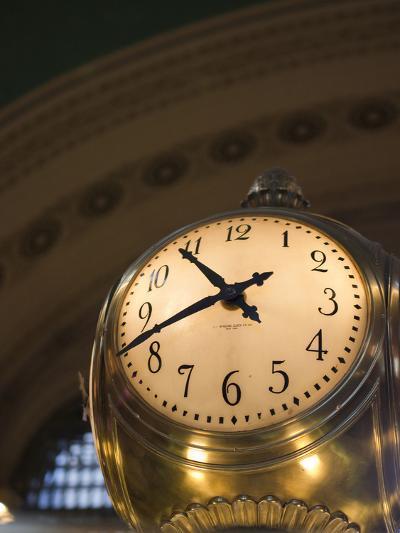 An Illuminated Clock in Grand Central Station, New York, New York, USA-David H^ Wells-Photographic Print
