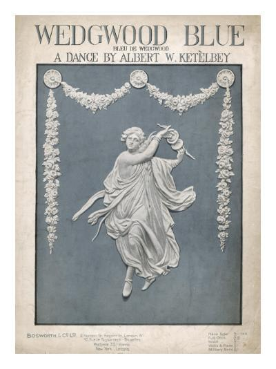 An Illustration of a Typical Wedgwood Design on the Cover of the Music Sheet 'Wedgwood Blue'--Giclee Print