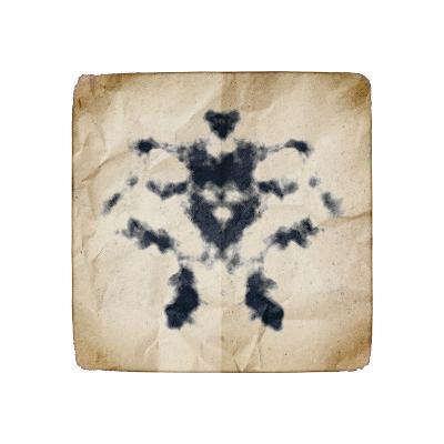 An Image Of An Old Paper With Rorschach Graphic-magann-Art Print
