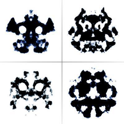 An Image Of The Rorschach Test Ink Blots-magann-Art Print