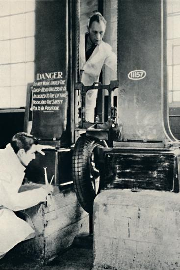 'An Impact Test in the Dunlop Test House', 1937-Unknown-Photographic Print