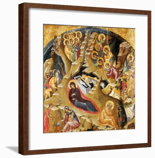 An Important Late Byzantine Icon of the Nativity of Christ, 15th Century--Framed Giclee Print