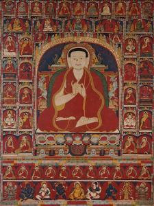 An Important Tibetan Thang.ka Depicting Bkra.Shis.Dpal circa 1300