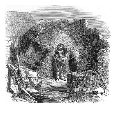 An Impoverished Man in a 'scalpeen'--Giclee Print
