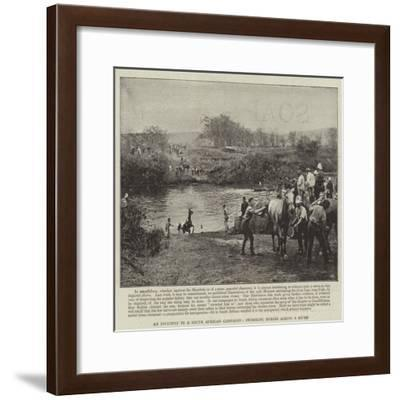 An Incident in a South African Campaign, Swimming Horses across a River--Framed Giclee Print