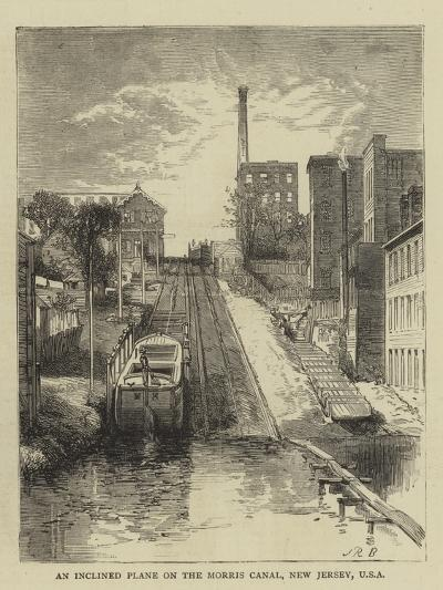 An Inclined Plane on the Morris Canal, New Jersey, USA--Giclee Print