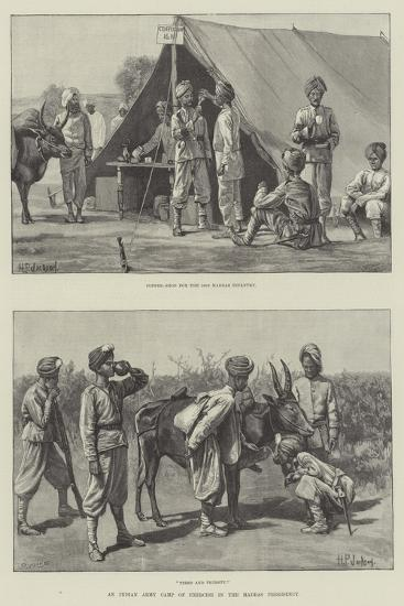 An Indian Army Camp of Exercise in the Madras Presidency--Giclee Print