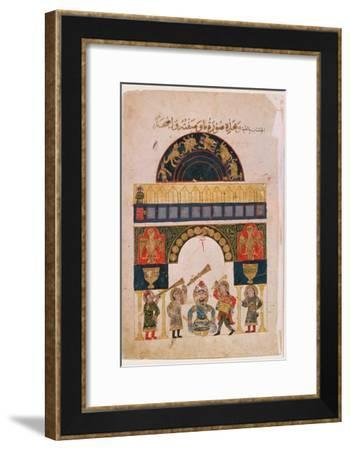 An Indian Astrological Chart Depicting Signs of the Eastern Zodiac, 19th Century, (Literary Text)--Framed Giclee Print