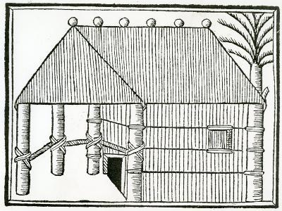 An Indian Habitation from 'La Historia General De Las Indias' 1547-Christopher Columbus-Giclee Print