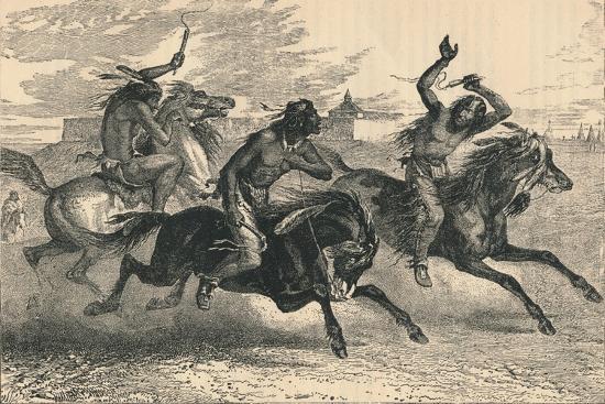An Indian Horse Race, C19th Century--Giclee Print