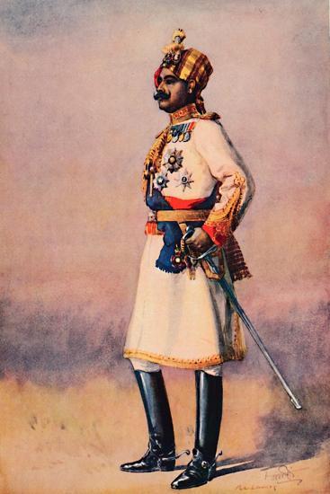 'An Indian Maharaja', 1913-AC Lovett-Giclee Print