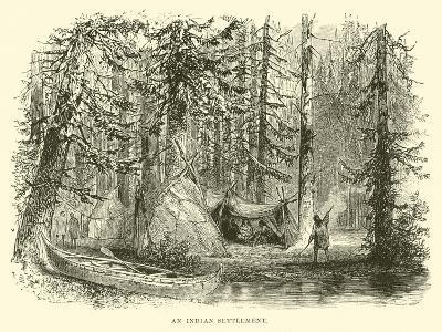 An Indian Settlement--Giclee Print