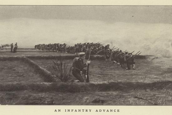 An Infantry Advance--Photographic Print
