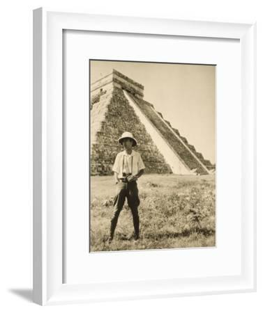 An Informal Portrait of Photographer and Explorer Luis Marden-Luis Marden-Framed Photographic Print