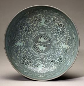 An Inlaid Celadon Bowl, Koryo Dynasty, 13th Century