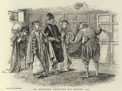 An Innkeeper Receiving His Guests, 1595-Claude Shepperson-Giclee Print