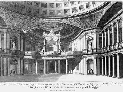 An Inside View of the Pantheon, Oxford Street, London, 1784-John Dixon-Giclee Print