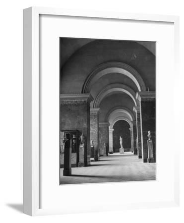 An Interior View of the Louvre Museum-Ed Clark-Framed Premium Photographic Print