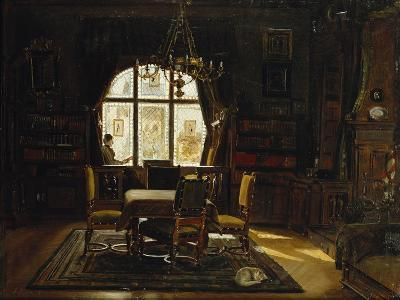 An Interior with a Lady Reading by a Window-Rudolf		 Konopa-Giclee Print