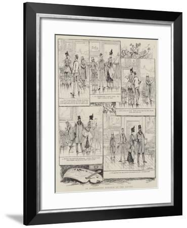 An Interrupted Romance at the Louvre-V.a. Poirson-Framed Giclee Print