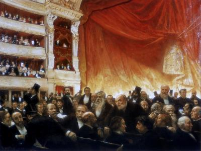 An Interval with the Comedie Francaise, 1886-Edouard Joseph Dantan-Giclee Print