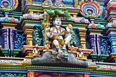 An Intricate Colorful Statue of Shiva at a Hindu Temple-Jason Edwards-Photographic Print