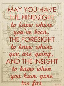 An Irish Blessing on Hindsight, Foresight & Insight - 1741, Ireland Map