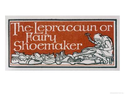 An Irish Leprechaun or Fairy Shoemaker-George Denham-Giclee Print